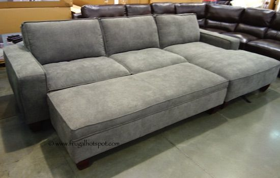 Chaise sofa with storage ottoman costco frugalhotspot for Chaise lounge costco