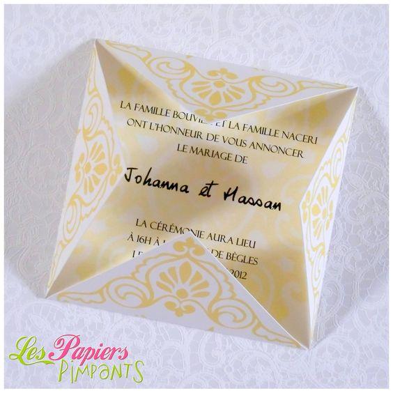 le faire part de johanna et hassan mariage origami oriental http - Faire Part Mariage Pas Cher Oriental