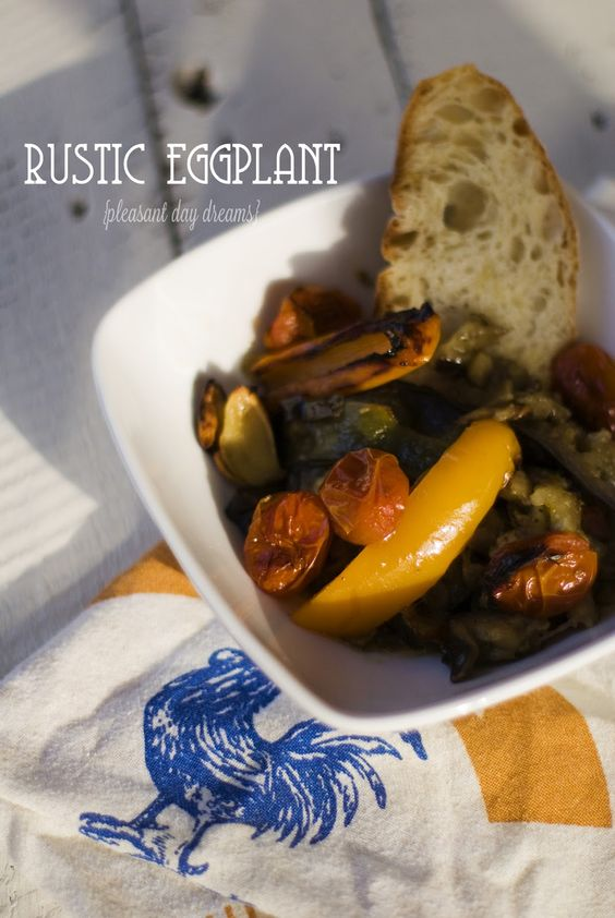 pleasant day dreams: rustic eggplant