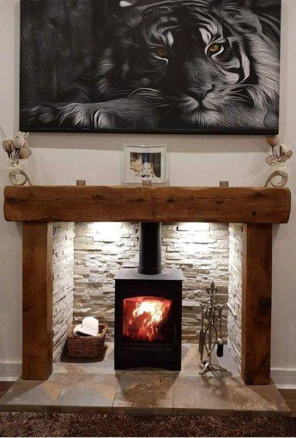 25 Trendy Kitchen Backsplash Ideas Behind Stove Design Wood Burning Stoves Living Room Log Burner Living Room Country Fireplace