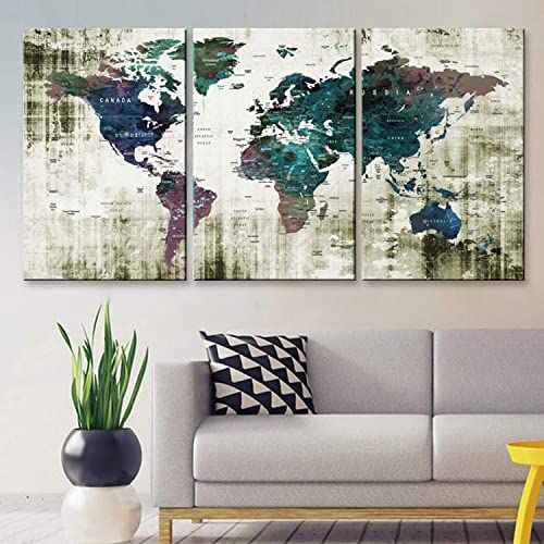 The Perfect Original By Boxcolors Large 30 X 60 3 Panels 30x20 Ea Art Canvas Print Watercolor Green Blue P In 2020 Travel Wall Decor Frame Wall Decor Canvas Art Prints