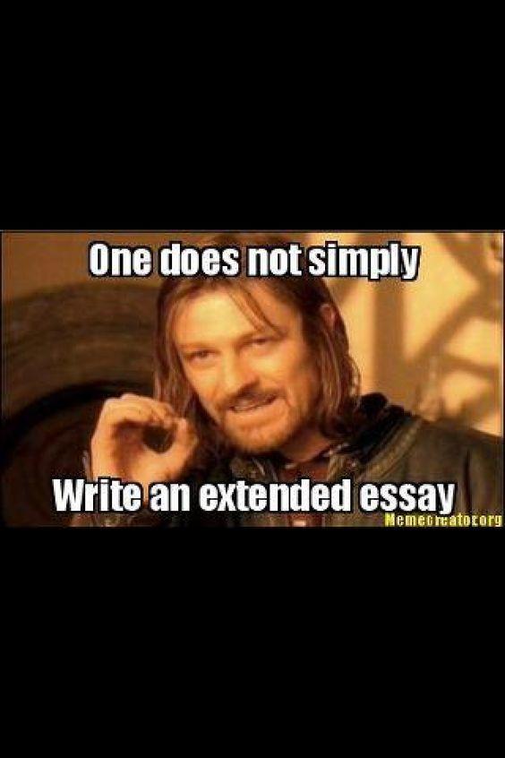 Ib memes extended essay samples