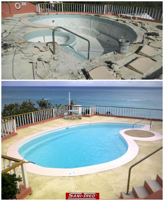 Waterproofing Paint Swimming Pool Repair Transformation Swimming Pool Repair Pinterest