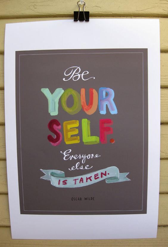 """Be Yourself Print  by Emily McDowell Illustration  11"""" x 14"""". The image measures 11"""" x 14"""" and is printed on 13"""" x 19"""" heavyweight Epson matte premium stock. It's big and beautiful!"""
