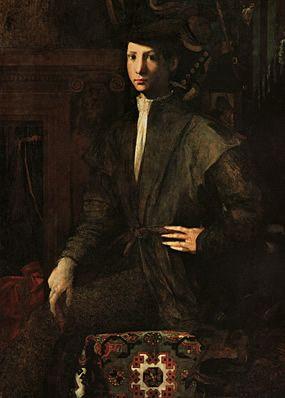 Rosso Fiorentino (Italie, 1494-1540) – Portrait de jeune homme (1527) Naples, Museo di Capodimonte.