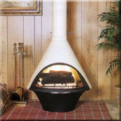 Malm wood burning stoves and gas stove on pinterest - Mid century modern wood stove ...