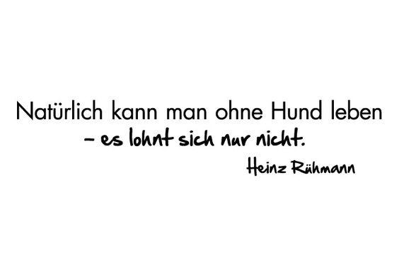 Hunde Zitat von Heinz Rühmann - Natürlich kann man ohne Hund leben