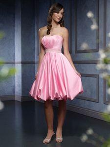 Pink Bubble Dress Pink Short Party Dress bridesmaid dress. would ...