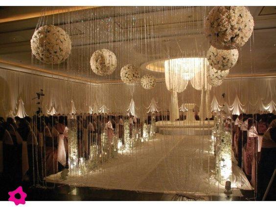 Decoracion de boda con cristales bodas pinterest - Arreglos con globos para boda ...