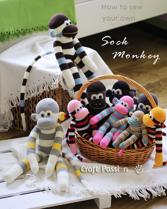 Step by step tutorial on how to make Sock Monkeys!! So cute, and perfect for a little child!