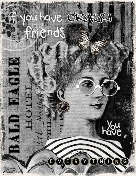 CRAZY FRIENDS: Made with elements by Paula Kesselring