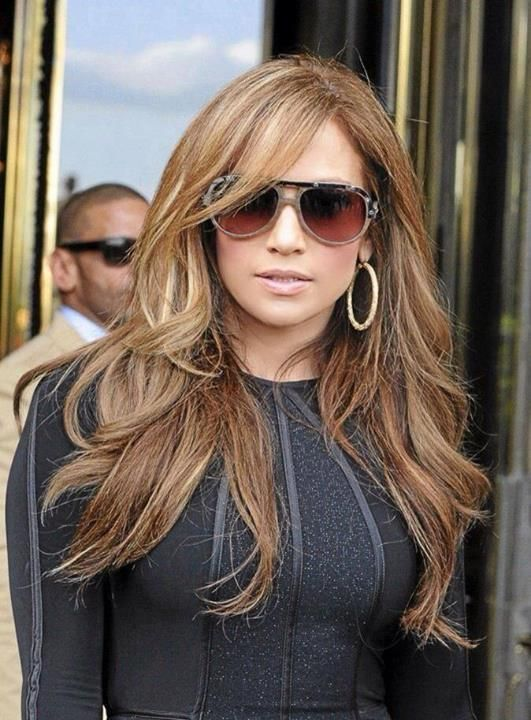 Hair Is Perfect Love The Color Jennifer Lopez Hair Jlo Hair Hair Styles