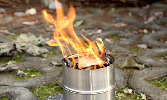 Lixada Portable Camping Réchaud à bois en acier inoxydable pour pique-nique BBQ: Amazon.fr: Sports et Loisirs