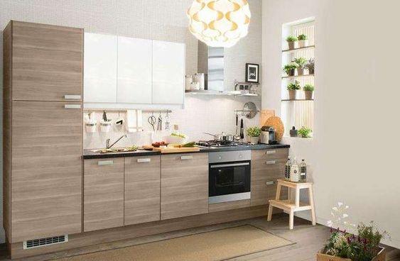Cucine bicolore - Cucina bicolore piccola   Cucina