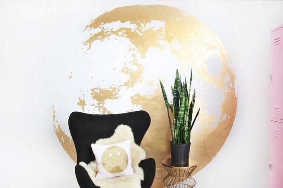 DIY: Золотая луна на стене ~ Sweet home