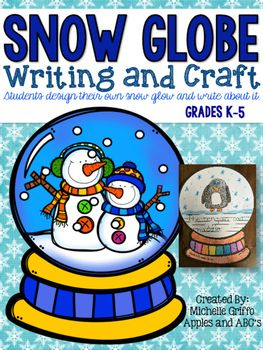 This Snow Globe Craft will make a wonderful bulletin board display through the winter months.  There are several different types of papers for you to design your own craft!  You can have the students draw a picture inside the snow globe and then either make a flip craft, or pick the option to have the students write a sentence on the first page!Make sure you download the preview to see the paper options inside! ;)Michelle GriffoApples and ABC's