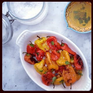 Mini-paprika's van de grill
