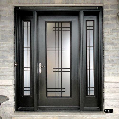 Sealed Door Inserts Metal Entrance Doors Iron Door Design