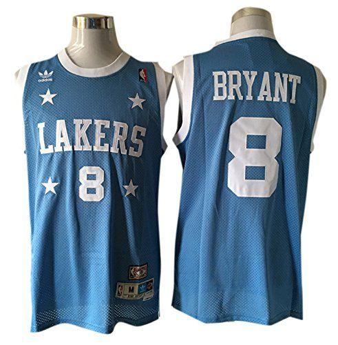 jvmlbo Lakers 8 Kobe Bryant Light Blue 1950s Throwback Jersey Size-S
