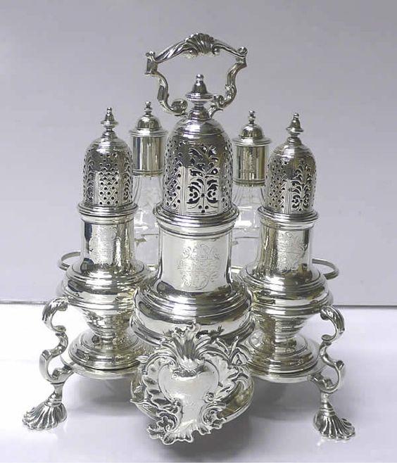 Victorian Cruet set | Antique cruet set.