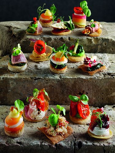 Canapes idee per la presentazione nei buffet finger for Canape buffle