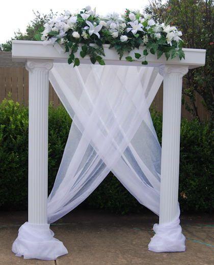 Wedding Column Decorations