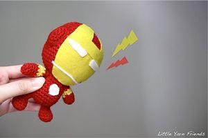 Free #Crochet Avengers Patterns :: Li'l Iron Man