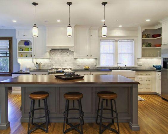 Best kitchen pendant lighting over island gorgeous for Lights for over a kitchen island