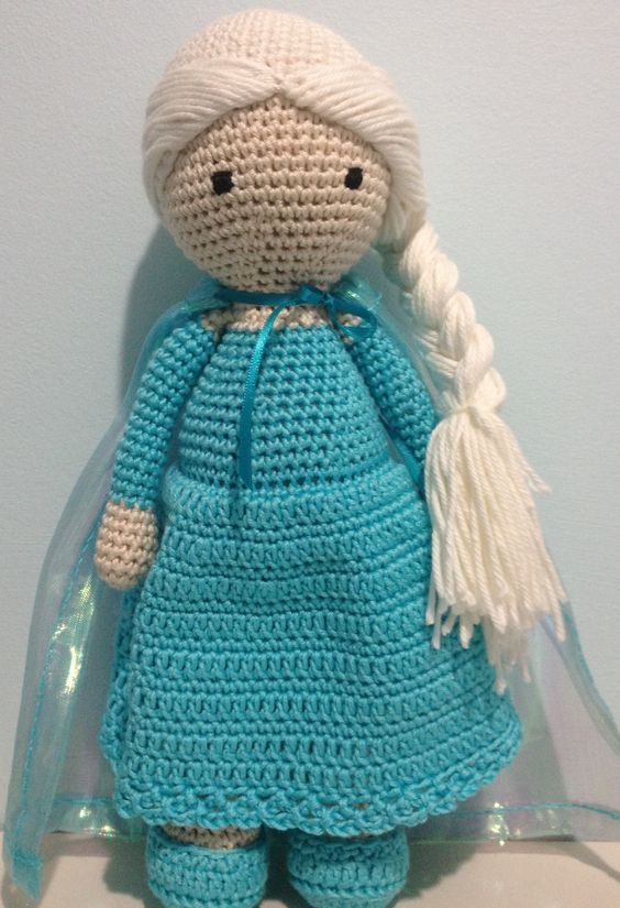 Crochet Elsa Doll Pattern : Elsa crochet doll Crochet Pinterest Crochet dolls ...
