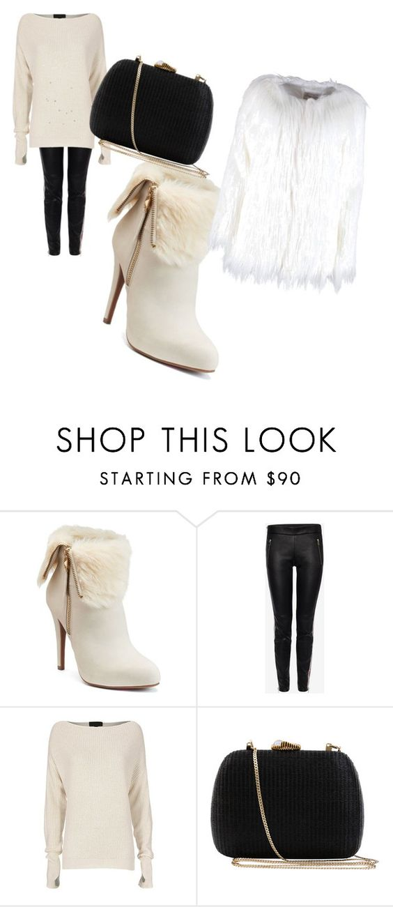 """""""Cute Outfit for Winter"""" by purplegoldwolf ❤ liked on Polyvore featuring Jennifer Lopez, Alexander McQueen, Exclusive for Intermix and Serpui"""