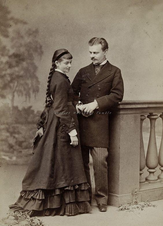 """Just engaged"" Circa 1875.:"