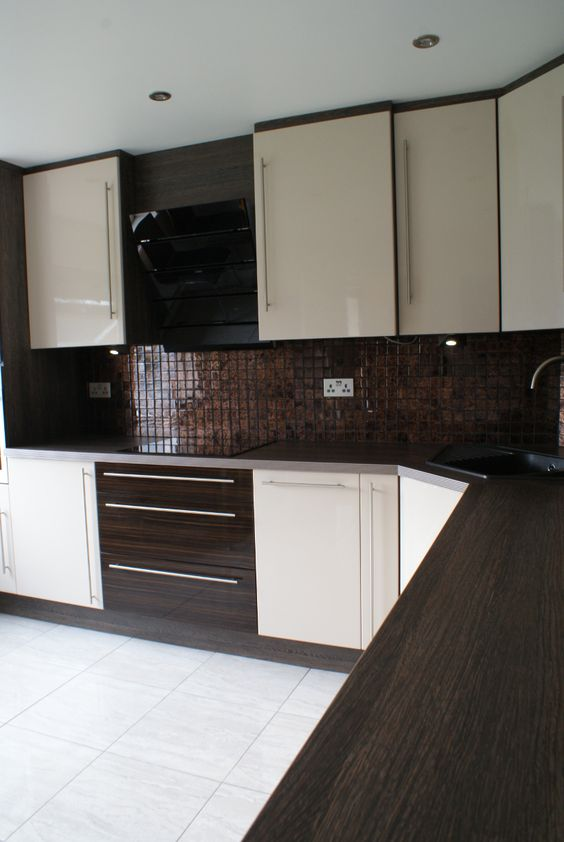 recently completed kitchen with floor to ceiling kitchen cabinets in lincolnshire uk from http. Black Bedroom Furniture Sets. Home Design Ideas