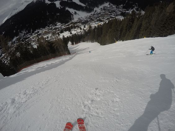 Straight down the Wall in Madonna Di Campiglio!