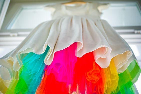 Regenbogen Hochzeitskleid Rainbow Wedding Dress