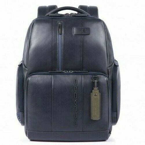 Ebay Sponsored Piquadro Backpack Professional Leather Fast Check Pc Ipad Blue Leather Messenger Bag Laptop Leather Bag Sale