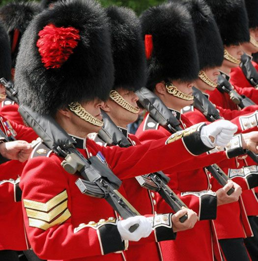 Saw the guards at Buckingham Palace, England.