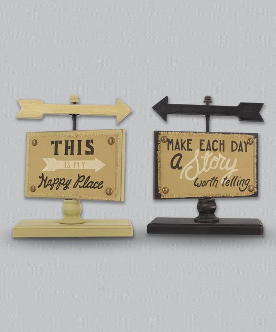 Look at this Inspirational Tabletop Sign - Set of Two on #zulily today!