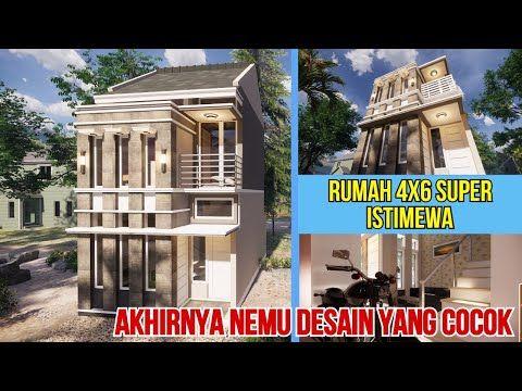 Bangun Rumah 4x6 Hemat Lahan Maksimalkan Ruang Type 2 Youtube Rumah Desain Rumah Desain Hotel room design 4x6 desain