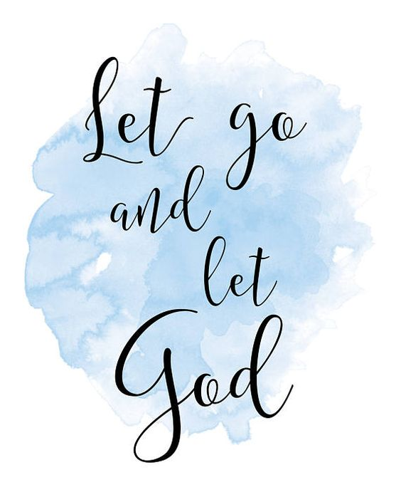Let go and let God. :) Would you like it framed? Click on this link to purchase: https://www.etsy.com/listing/276881236/8x10-gold-frame-11x14-gold-frame-thin ----------------------------------------------- Interested in a different quote on this background? Click here: https://www.etsy.com/listing/220976005/watercolor-floral-custom-print-up-to Each print is professionally printed on bright white 67 lb. high-quality archival acid-free spec...