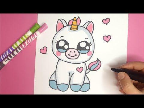 Wie Zeichnet Man Ein Niedliches Baby Einhorn Kawaii Einhorn Malen Youtube Drawing For Kids Unicorn Drawing Baby Unicorn