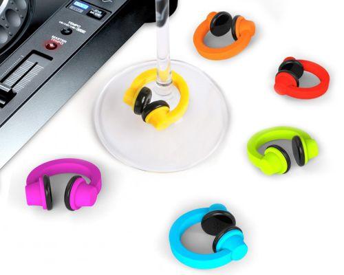 Headphone Drink Charms