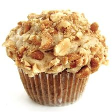 Banana Cupcakes with Peanut Butter Frosting....moist banana cake, peanut butter frosting, and a blizzard of crushed salty/sweet honey roasted peanuts on top.