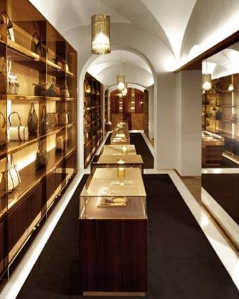 What I love in this Gucci store interior is the use of ...