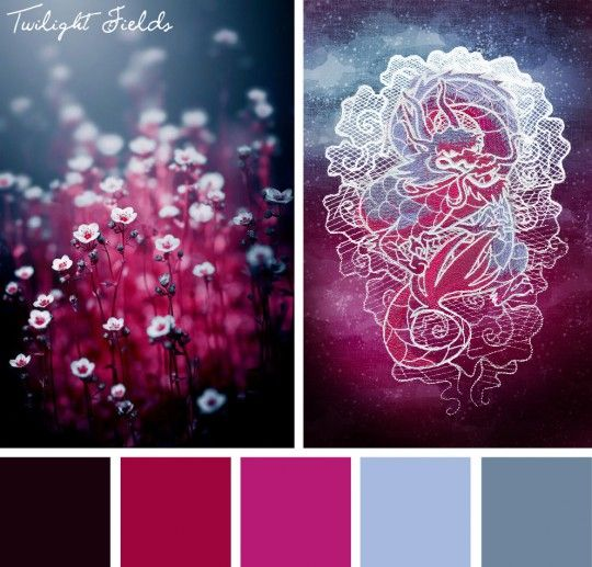Add a little of that dark magic from the dusky hour with this Twilight Fields color inspiration.