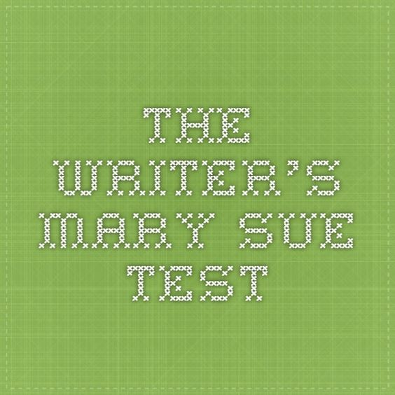 The Writer's Mary Sue Test Such an interesting tool to find out how unique your characters are. This is really good