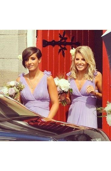 Celebrity bridesmaid hair - Frankie Sandford and Mollie King
