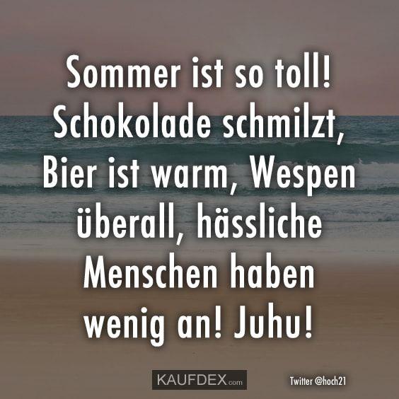 Sommer Ist So Toll Kaufdex Hitze Lustig Lustige Zitate Lustige Spruche