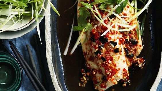 Fish and chilli is a winning combination. Steamed Chinese snapper.
