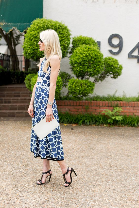 blue + white summer dress is 40% off today -  Luella & June