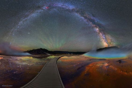 The Milky Way Over Yellowstone is Impossibly Beautiful by David Lane http://www.davelaneastrophotography.com